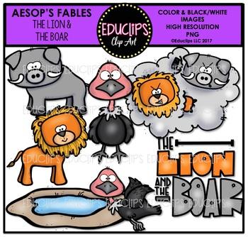 The Lion & The Boar Clip Art Bundle {Educlips Clipart}