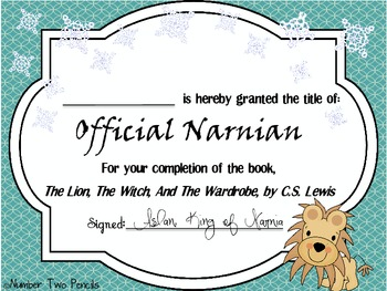 The Lion, The Witch, And The Wardrobe Certificate