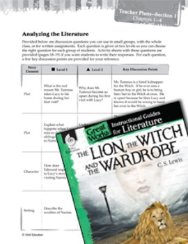 The Lion, The Witch And The Wardrobe Leveled Comprehension Questions