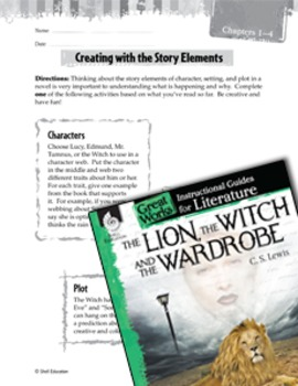 The Lion, The Witch And The Wardrobe Studying The Story Elements