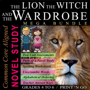 #1 The Lion, The Witch, and The Wardrobe Novel Study Unit / Tests + Answer Keys!