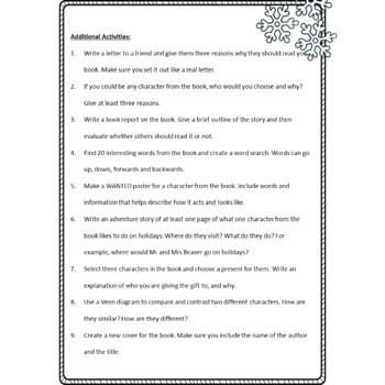 The Lion, The Witch and The Wardrobe Chapter Comprehension Questions