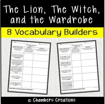 The Lion, The Witch and the Wardrobe- 8 Vocabulary Building Pages
