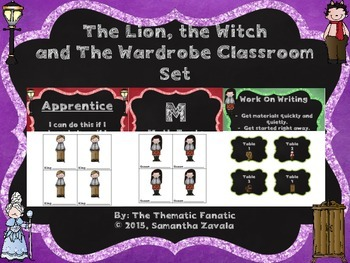 The Lion, The Witch and the Wardrobe Chalk Themed Classroom Set