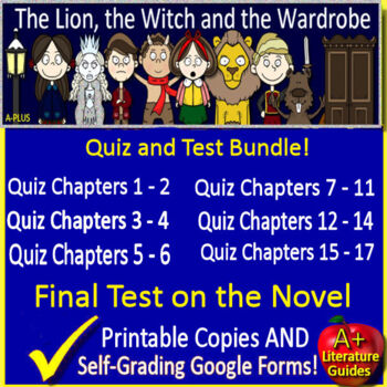 The Lion, The Witch and the Wardrobe Novel Study Test Bundle Common Core Aligned