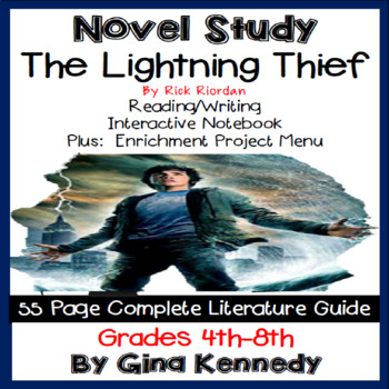the lightning thief novel study enrichment project menu by gina