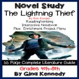 The Lightning Thief Novel Study + Enrichment Project Menu; Digital Option