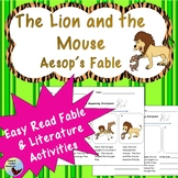 The Lion and the Mouse Aesop Fable Reading Comprehension Great for ESL ELL SPED