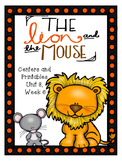 The Lion and the Mouse, Centers and Printables, Kindergarten, Unit 3, Week 6