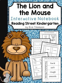 The Lion and the Mouse Interactive Notebook ~ Reading Street Kindergarten