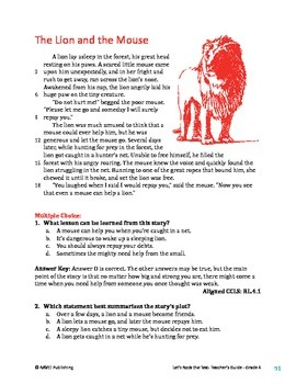 The Lion and the Mouse - Literary Text Test Prep