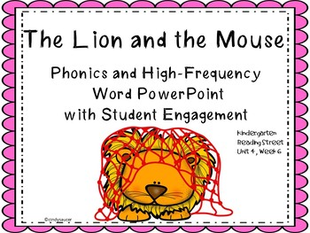 The Lion and the Mouse, PowerPoint, Kindergarten, Unit 3, Week 6