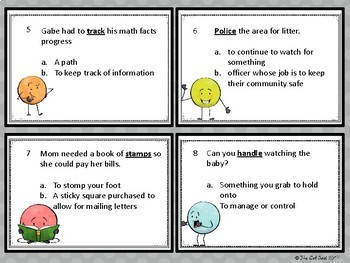 Multiple Meaning Word Task Cards - Intermediate Grades!