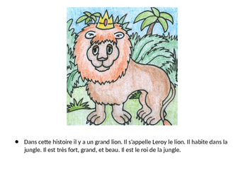 The Lion and the Mouse Story and Activities for French 1
