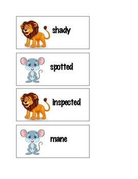 The Lion and the Mouse: Vocabulary & Sight Words Flash Cards
