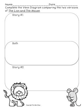 The Lion and the Mouse:  Wonders Reading Grade 2 Smart Start