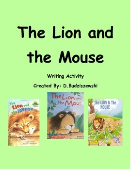 The Lion and the Mouse Writing Activity