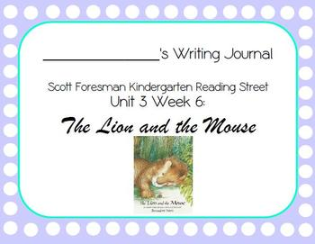 The Lion and the Mouse Writing Journal (Kindergarten Readi