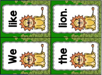 The Lion & the Mouse Sentence Scramble