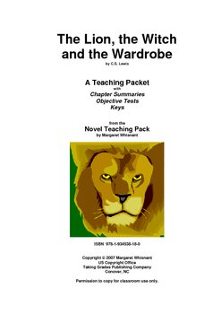 The Lion, the Witch. . .    Chapter Summaries/Objective Tests/Keys