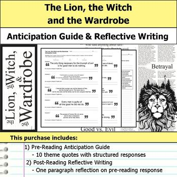 The Lion, the Witch and the Wardrobe - Anticipation Guide & Reflection