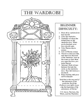 The Lion the Witch and the Wardrobe Bookmark Interactive Activity!