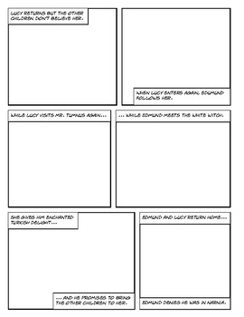 The Lion, the Witch and the Wardrobe - Draw Your Own Comic / Graphic Novel