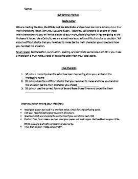 The Lion, the Witch, and the Wardrobe Essay Assignment by Spark Learning