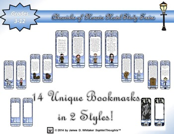 The Lion, the Witch, and the Wardrobe Narnia Character Bookmarks