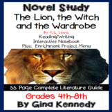 The Lion, the Witch and the Wardrobe Novel Study + Enrichment Project Menu