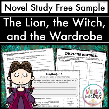 The Lion, the Witch, and the Wardrobe Novel Study FREE Sample