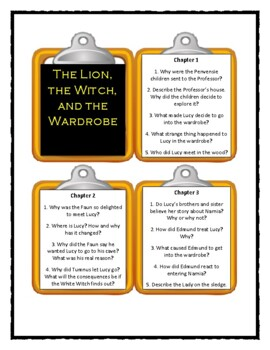 Chronicles of Narnia THE LION, THE WITCH, AND THE WARDROBE - Discussion Cards