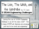 The Lion, the Witch, and the Wardrobe - STEAM Engineering Challenges, Pack of 5