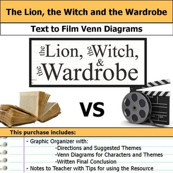 The Lion The Witch And The Wardrobe Text To Film Venn Diagram Conclusion