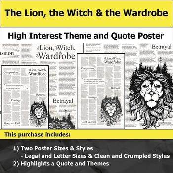 The Lion, the Witch and the Wardrobe - Theme & Quote Poster for Bulletin Boards