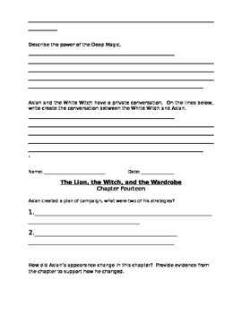 The Lion, the Witch, and the Wardrobe chapters 11-17