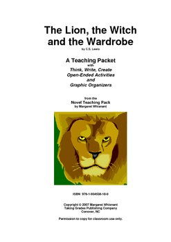 The Lion, the Wtich. . .     Activities/Graphic Organizers