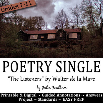 "Halloween Lesson for Teens, Poetry ""The Listeners"""