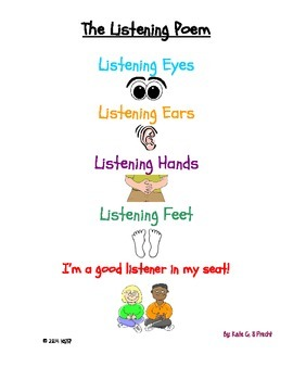 The Listening Poem- A Classroom Poster