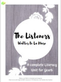 The Listerers  - A complete Literacy Unit for Yr 6 UK or G