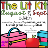 The Lit Kit August September Second Grade