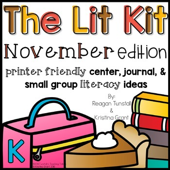 The Lit Kit November Kindergarten