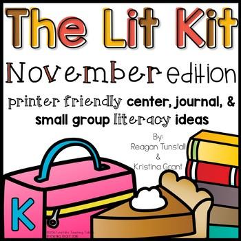 The Lit Kit November Kindergarten
