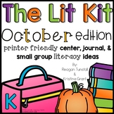 The Lit Kit October Kindergarten