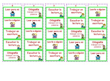 Daily 5, The Literacy CAFE Menu and Rotations in Spanish
