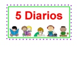 Daily 5, The Literacy CAFE Menu - Centers rotation cards - in Spanish