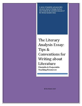 The Literary Analysis Essay: Tips & Conventions for Writing about Literature