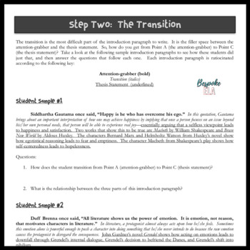 The Literary Analysis Essay and the Introduction Paragraph in 5 Mini-lessons