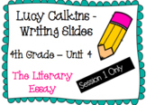 The Literary Essay - Lucy Calkins - 4th Grade - Writing Unit 4 - Session 1