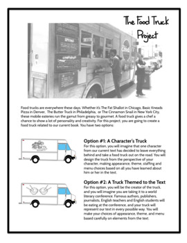 The Literary Food Truck (for Lit Circles, Choice Reading, or Class Novels)